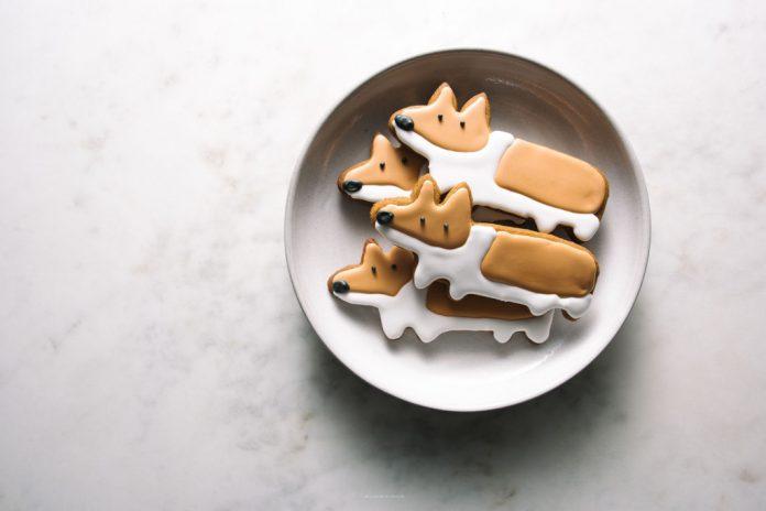 Gingerbread Corgi Cookies
