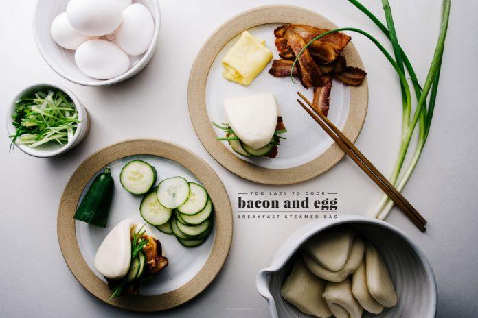 Pancetta e uovo Gua Bao