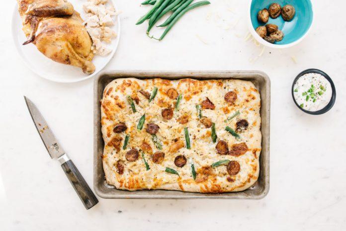 Pizza veloce e facile per la cena di pollo