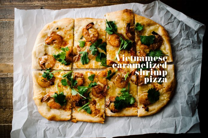 Ricetta Pizza Gamberetti Caramellati