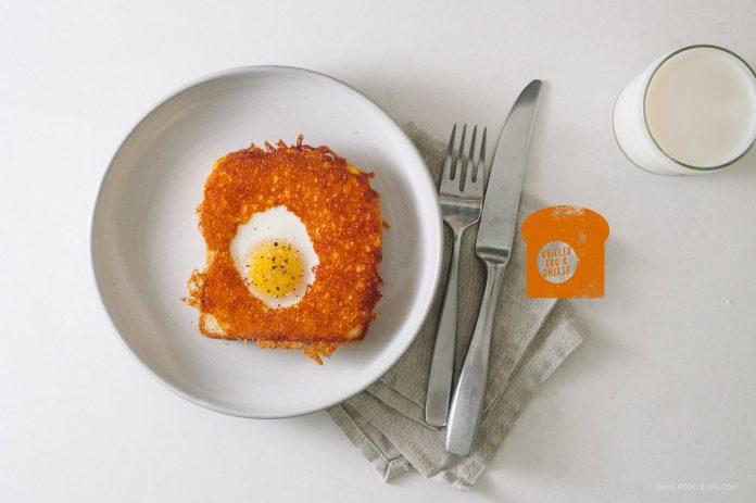 Ricetta di uova e formaggio alla griglia