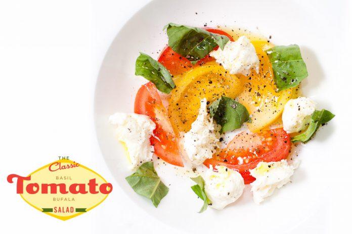 Ricetta insalata di pomodoro basilico bufala