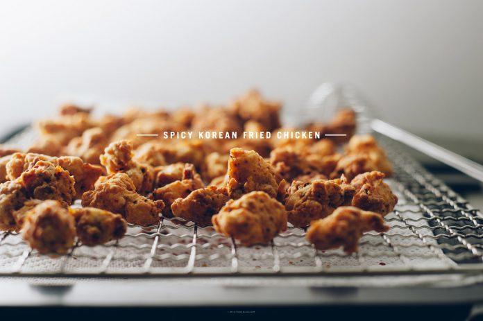 Ricetta piccante del pollo fritto coreano