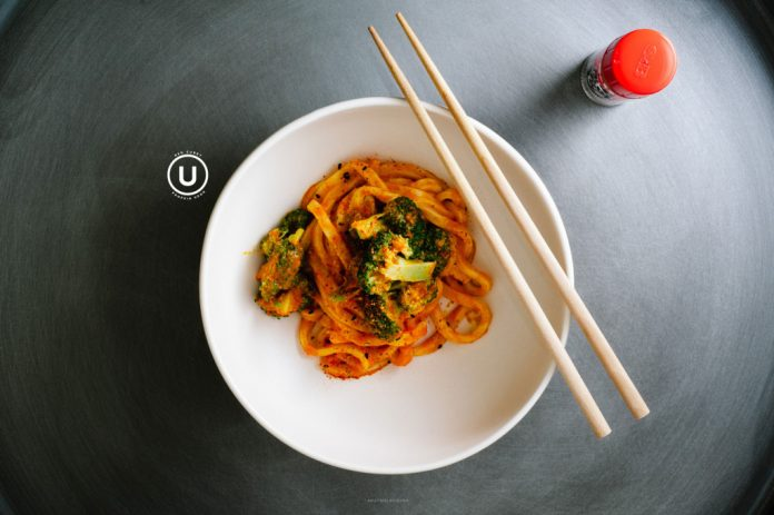 Udon al curry rosso zucca