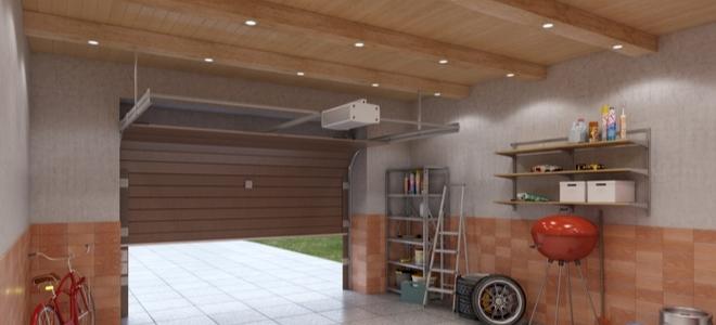 Alternative al soffitto di un muro a secco per garage