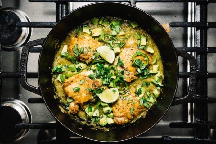 Cosce di pollo al miele di salsa verde cova al