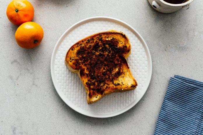 Formaggio grigliato pane allaglio