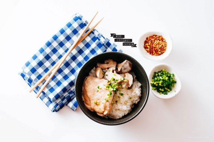 Pollo al cocco e miso