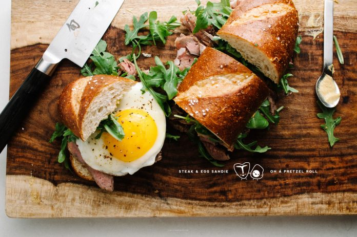 Ricetta Sandwich Di Bistecca E Uova