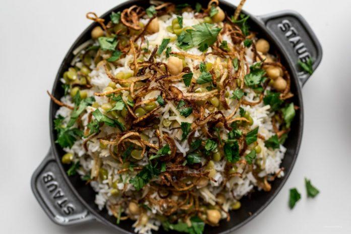 Ricetta egiziana di riso kosheri
