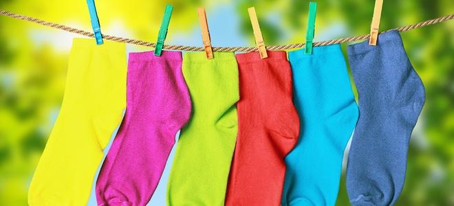 Calzini di lavaggio in lavatrice