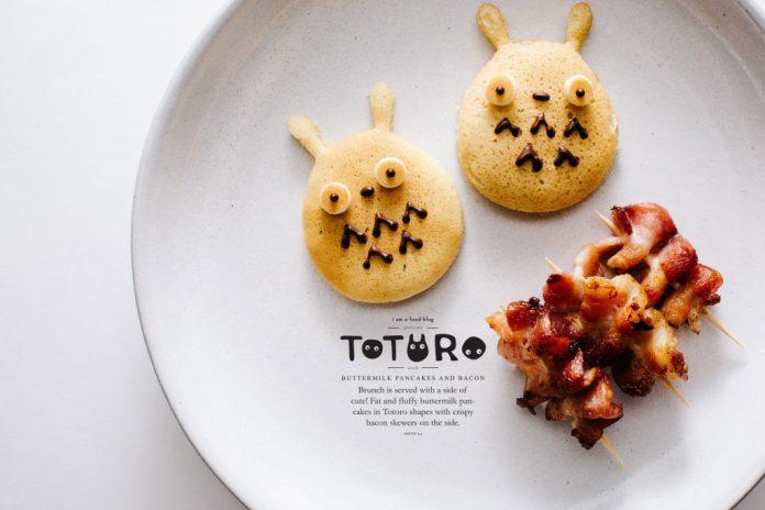 Pancake e pancetta al latticello Totoro