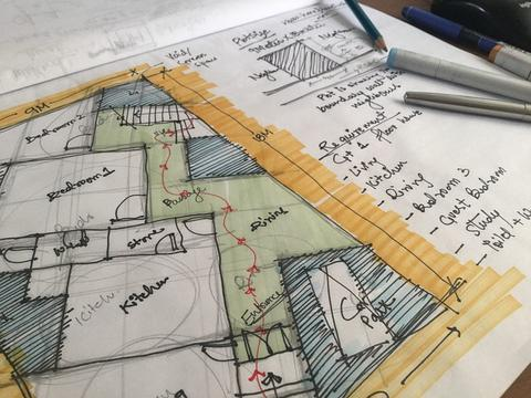 Come disegnare una pianta del pavimento a mano guida passo